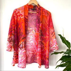 Sheer coverup or kimono topper